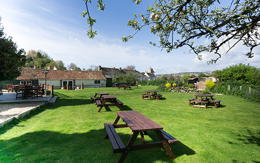 We have a wonderful landscaped Beer Garden