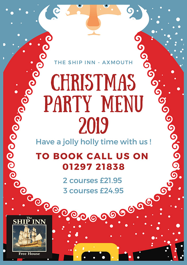 Last Day To Ship For Christmas 2019.Best East Devon Pub Christmas Party